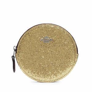 Coach Glitter Leather Coin Purse